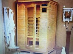 2 person sauna room carbon infrared dry