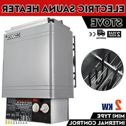 2KW 120V Electric Wet & Dry Stainless Steel Sauna Heater Sto