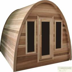 4 PERSON STEAM WET DRY SAUNA OUTDOOR DOME TOP PINE 200 Degre