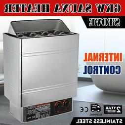 6KW Sauna Heater Stove Wet & Dry Stainless Steel Internal Co