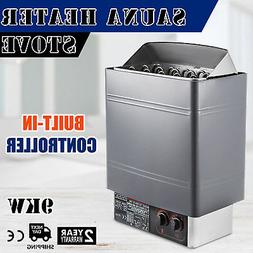 9KW Sauna Heater Stove Wet & Dry Stainless Steel Internal Co