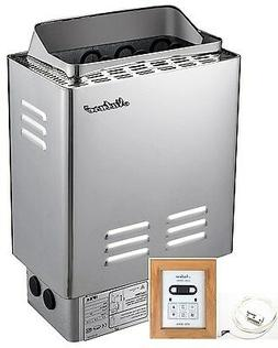9KW,Sauna Heater Stove, Wet&Dry, Stainless Steel, Digital Co