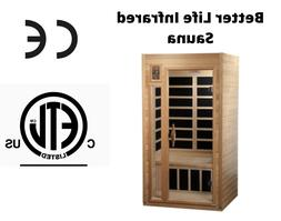 Better Life 1 Person Far Infrared Sauna. 6 Heaters, Chromoth