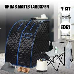 Black Portable Steam Sauna Tent Spa Slimming Loss Weight Ful