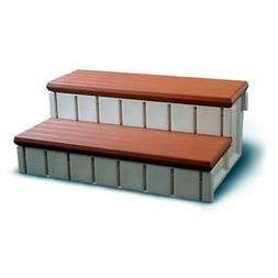 Blue Wave Confer Plastics Spa Step with Storage - Redwood