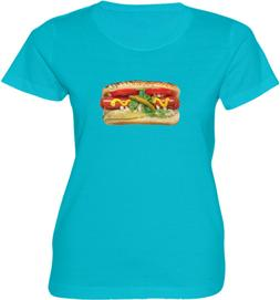 Fresh Juicy  Hot Dog Sausage Sandwich Funny Food Gift Women