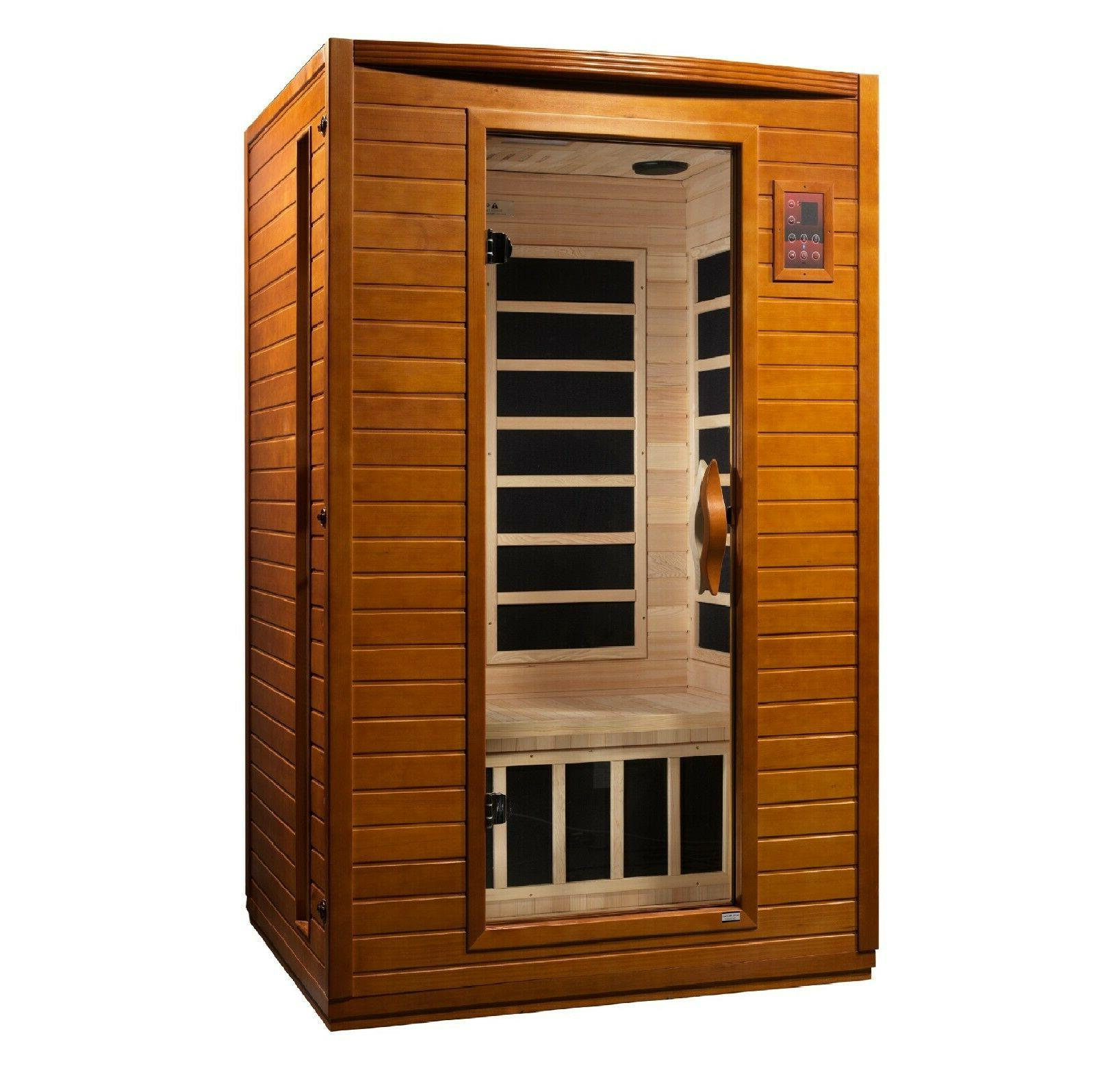 Dynamic Person Far Infrared Sauna 6 Carbon Panels Low
