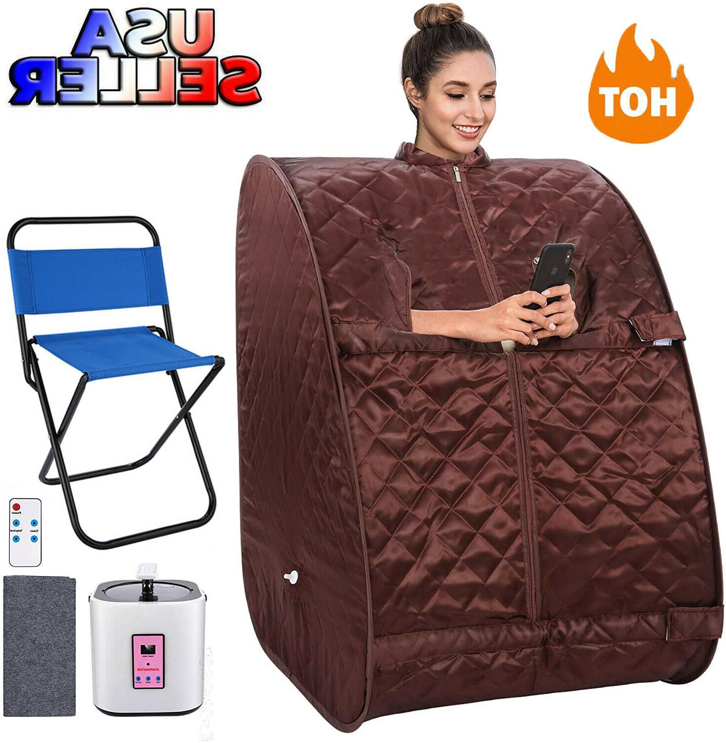 Personal Steam Sauna Spa for Detox Weightloss in Home Chair