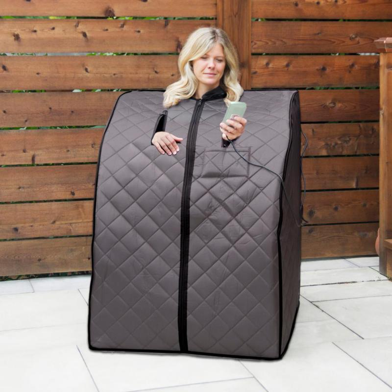 rejuvenator portable sauna padded double lined outdoors