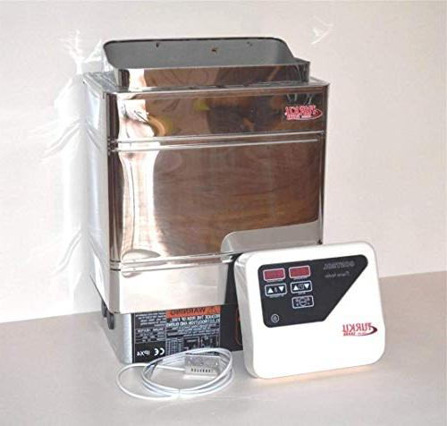 TURKU S/S TU90WD RESIDENTIAL & ELECTRIC SPA STOVE WITH OUTER CONTROLLER FOR SAUNAS
