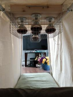 Near Infrared Sauna panels  with d-i-y overhead kit instruct