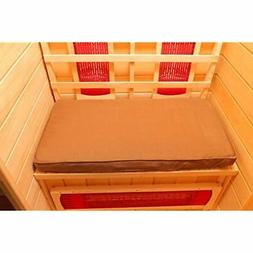 SA7001 1-Person Sauna Seat Cushion, One Size, Brown Garden ""